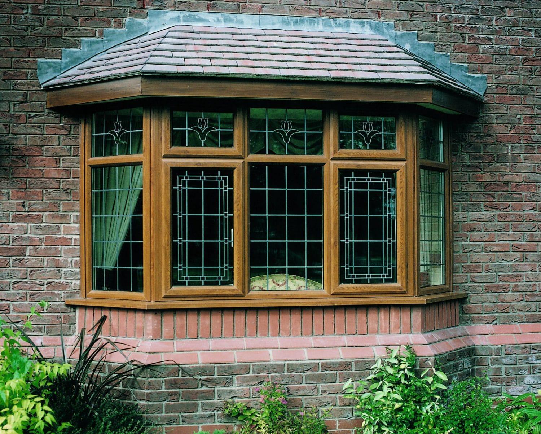 Legend Chamfered Golden Oak Bay window